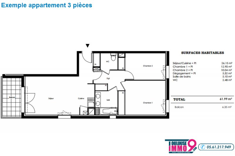 Appartement neuf Castanet-Tolosan - Photo 4