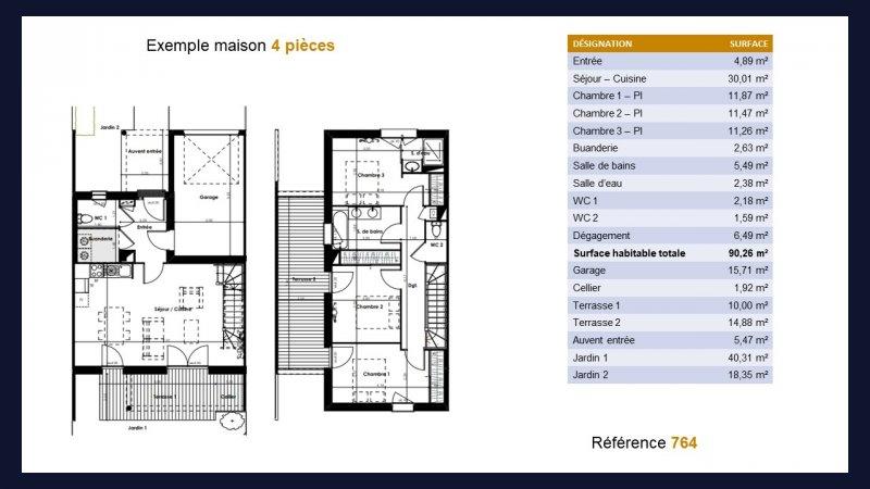 maisons neuves 4 pi ces plaisance du touch n 764 premium immo neuf. Black Bedroom Furniture Sets. Home Design Ideas
